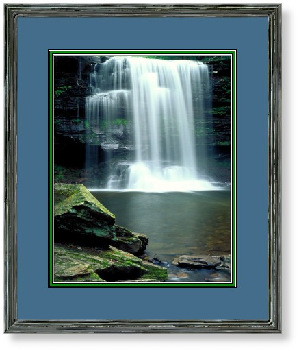 This image is of Harrison Wright Falls, Ricketts Glen, Pennsylvania