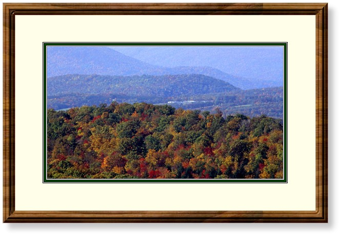This image is of Fall Color and Autumn Haze in the Central Pennsylvania Mountains