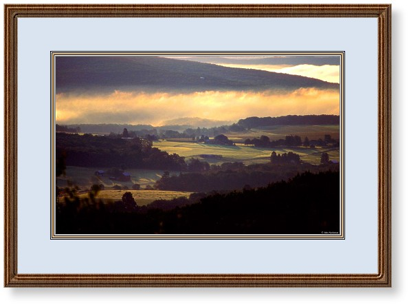 This image is of golden sunrise over a central Pennsylvania Valley