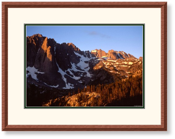 This image is of Temple Crag at SunRise in the Palisades, John Muir Wilderness, California