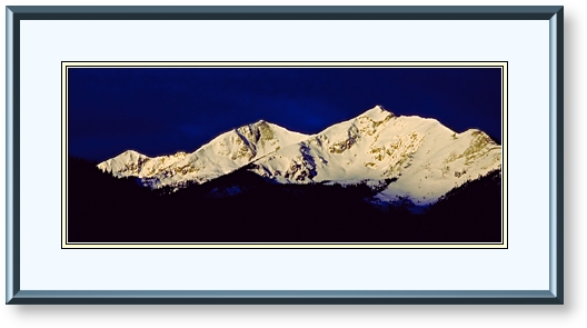 This Image is of Sunrise over the Ten Mile Range, Breckenridge, Colorado